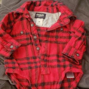 Oshkosh Flannel Button Up